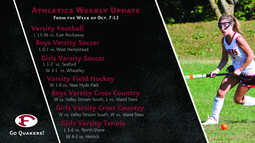 Athletics Weekly Update - Field Hockey Keeps Rolling, Boys and Girls Soccer Push for Postseason