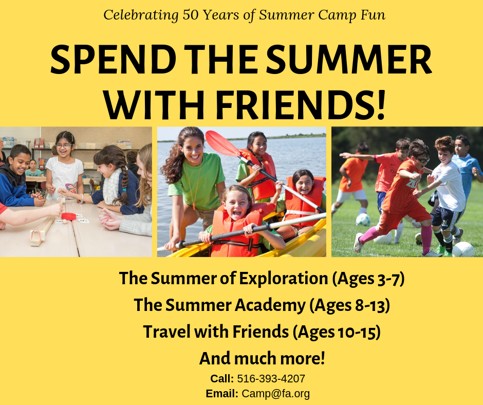 Sunday, May 5th – Summer Camp Open House