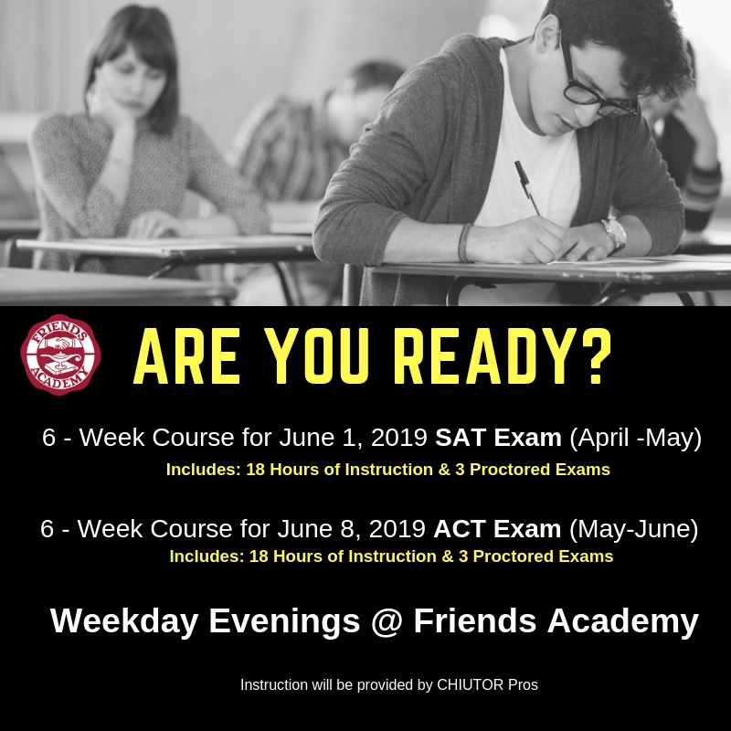 New!  SAT & ACT Prep Courses!